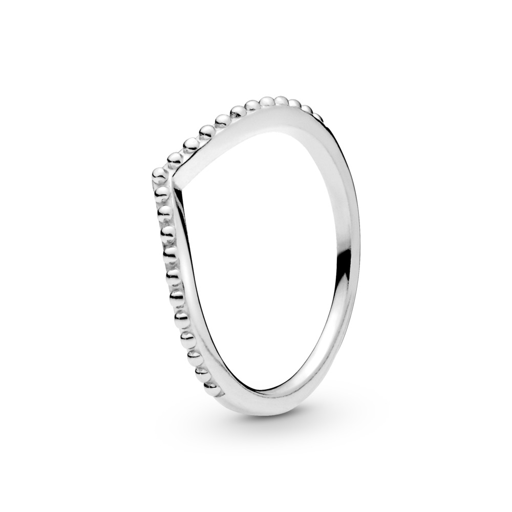 Beaded Wish Ring, Sterling silver - PANDORA - #196315