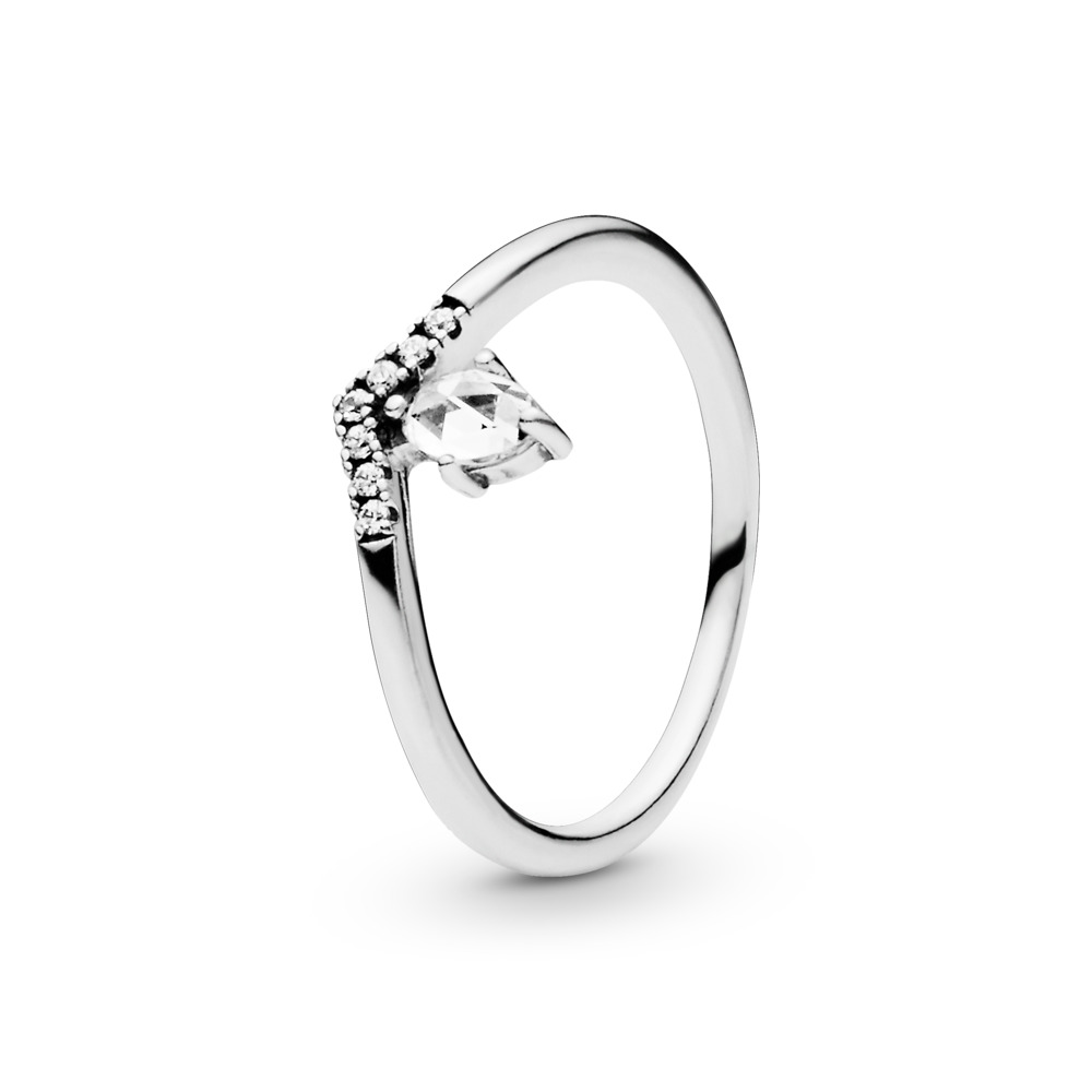 Classic Wish Ring, Clear CZ, Sterling silver, Cubic Zirconia - PANDORA - #197790CZ