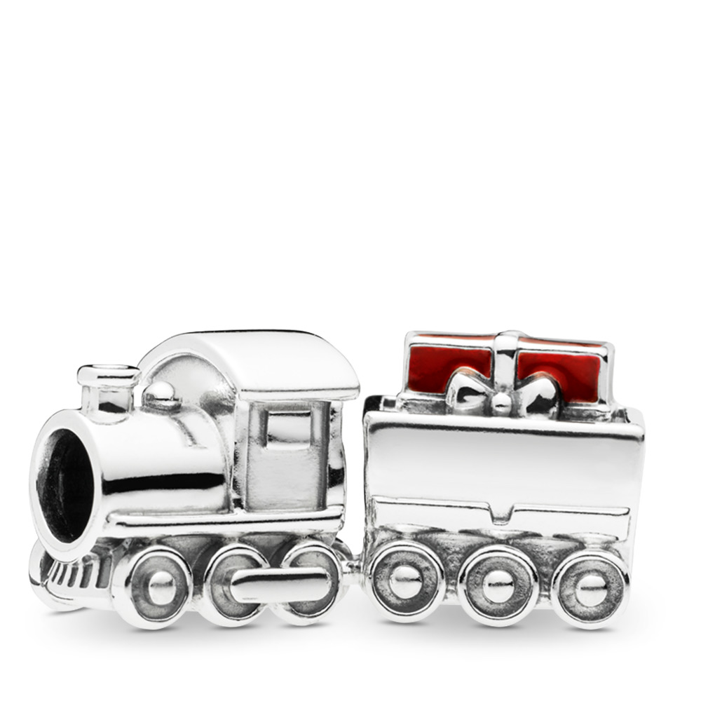 Christmas Train Charm, Red Enamel, Sterling silver, Enamel, Red - PANDORA - #797519EN27
