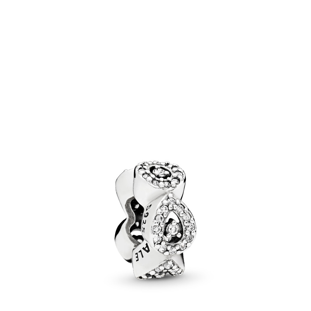 Cascading Glamour Spacer, Clear CZ, Sterling silver, Cubic Zirconia - PANDORA - #796270CZ