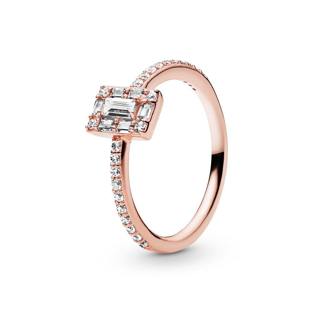 4a47d873b Luminous Ice Ring, PANDORA Rose™ & Clear CZ, PANDORA Rose, Cubic Zirconia