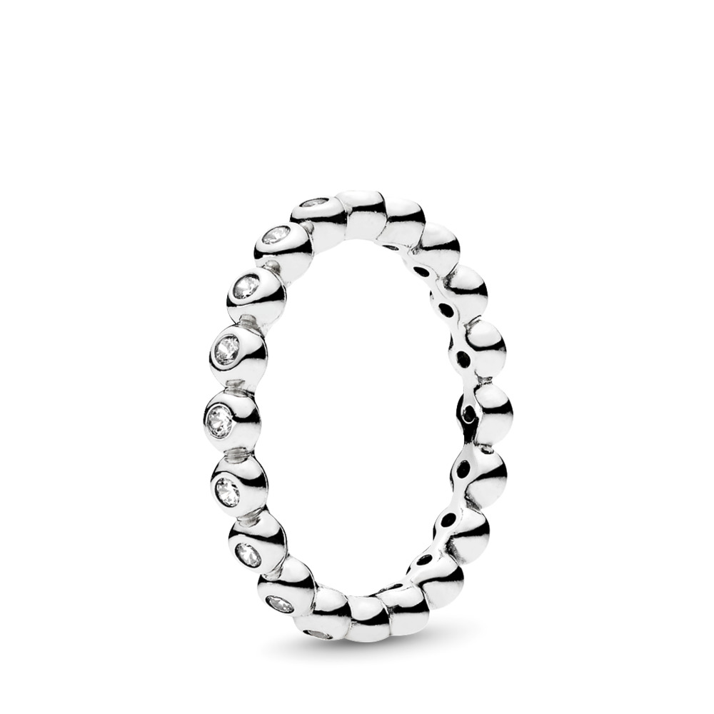 For Eternity Ring, Clear CZ, Sterling silver, Cubic Zirconia - PANDORA - #191032CZ