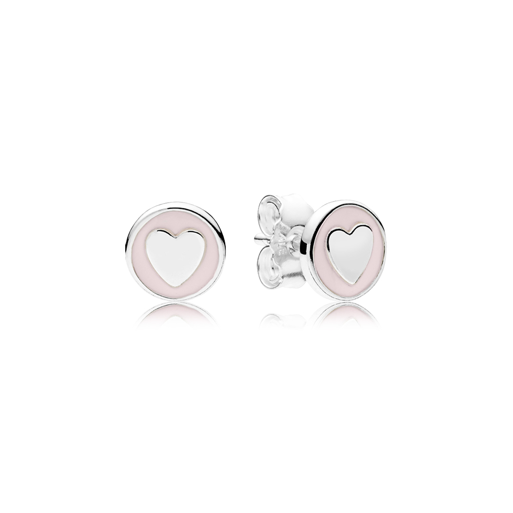 Sweet Statements Stud Earrings Pale Pink Enamel