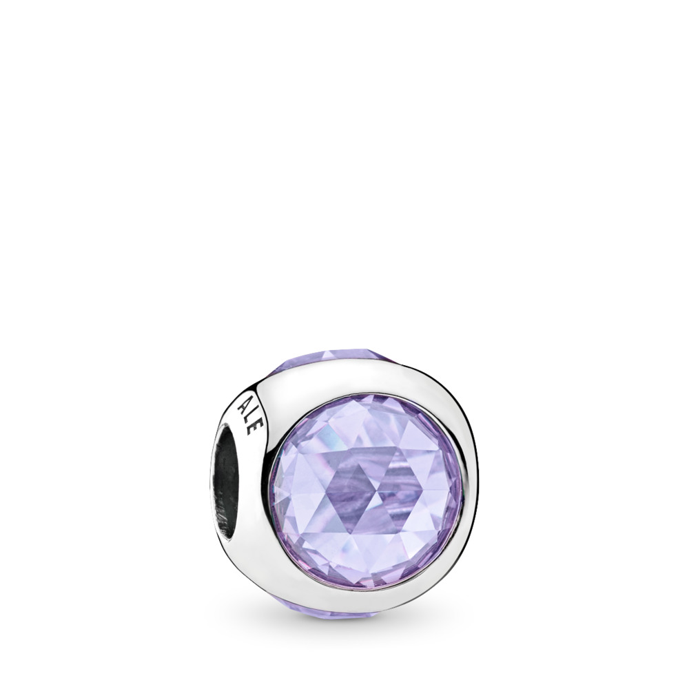 Radiant Droplet Charm, Lavender CZ, Sterling silver, Purple, Cubic Zirconia - PANDORA - #792095LCZ