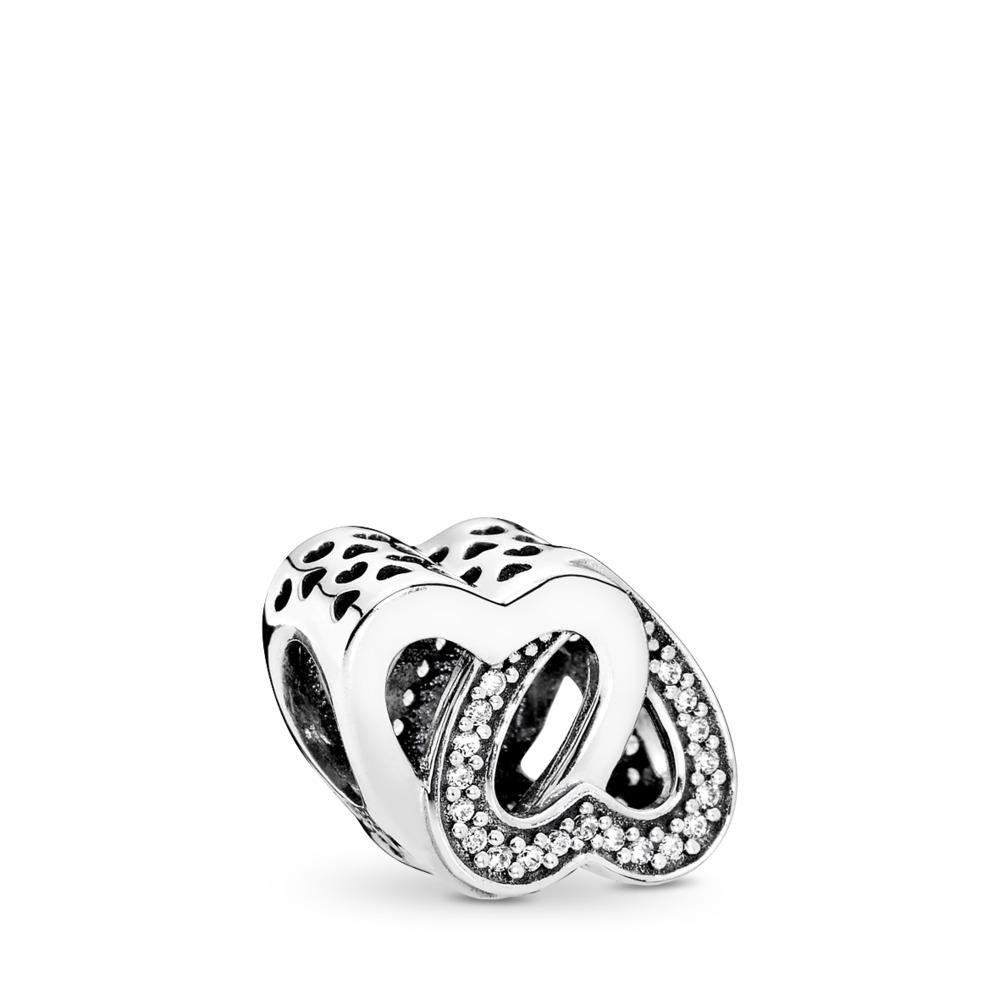 Entwined Love Charm, Clear CZ, Sterling silver, Cubic Zirconia - PANDORA - #791880CZ