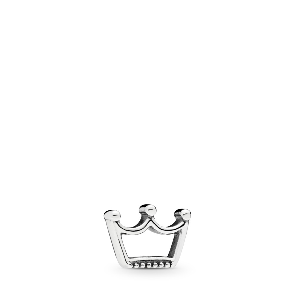 Crown Petite Locket Charm, Sterling silver - PANDORA - #797043