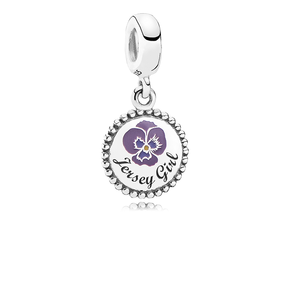 Jersey Girl Dangle Charm, Mixed Enamel, Sterling silver - PANDORA - #ENG791169_2
