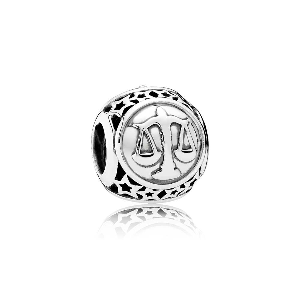 Libra Star Sign Charm, Sterling silver - PANDORA - #791942