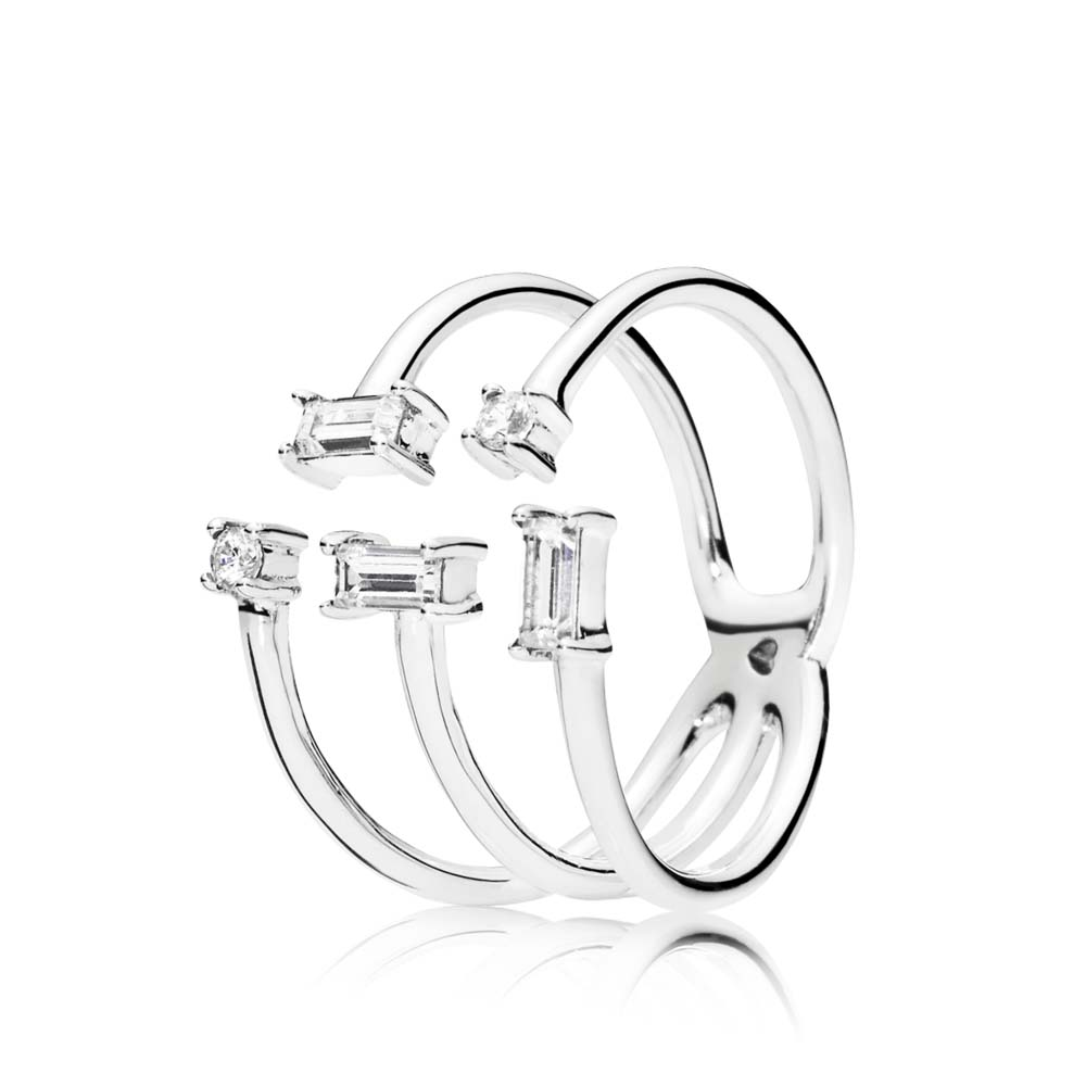 SHARDS OF SPARKLE RING, CLEAR CZ