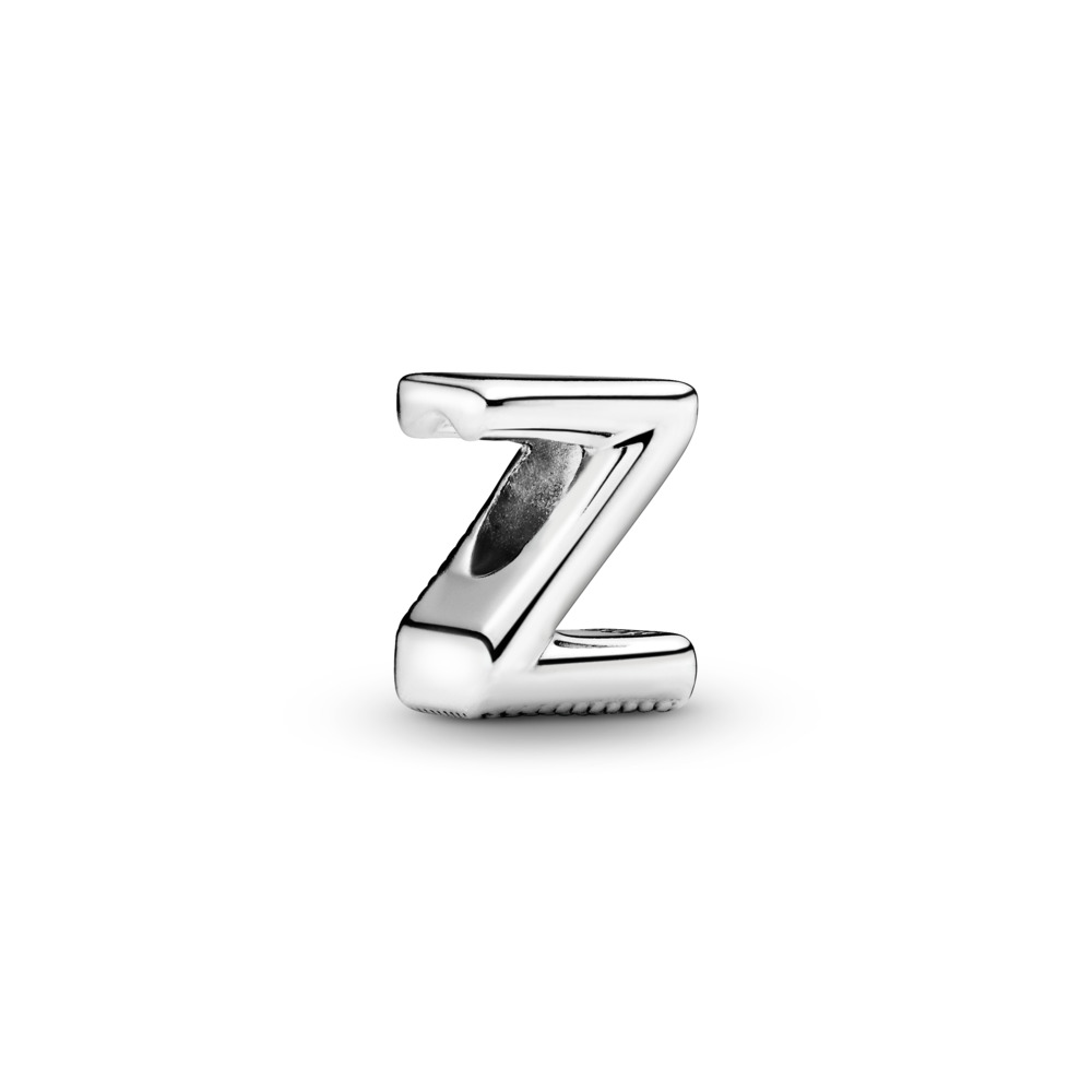 Letter Z Charm, Sterling silver - PANDORA - #797480