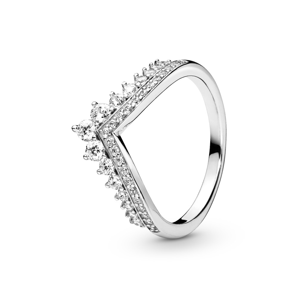 Princess Wish Ring, Clear CZ, Sterling silver, Cubic Zirconia - PANDORA - #197736CZ