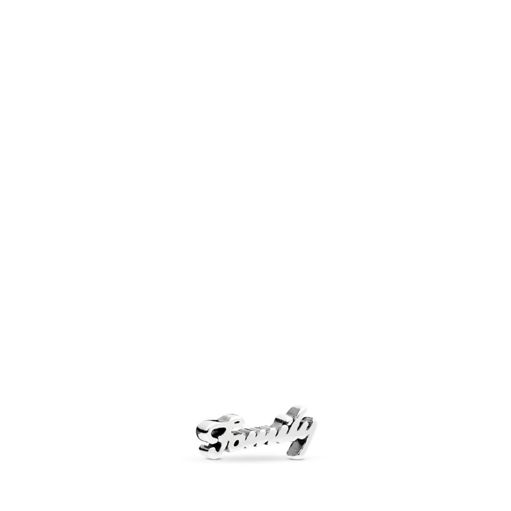 Family Script Petite Locket Charm, Sterling silver - PANDORA - #796295