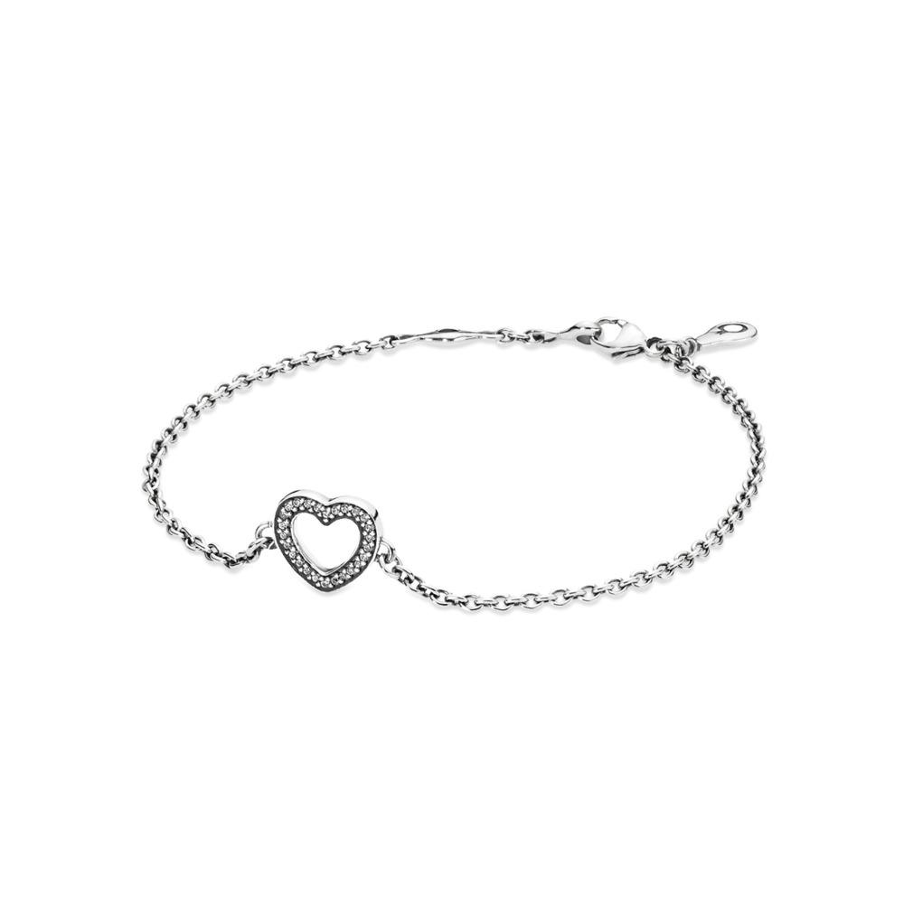 Symbol of Love Bracelet, Clear CZ, Sterling silver, Cubic Zirconia - PANDORA - #590508CZ