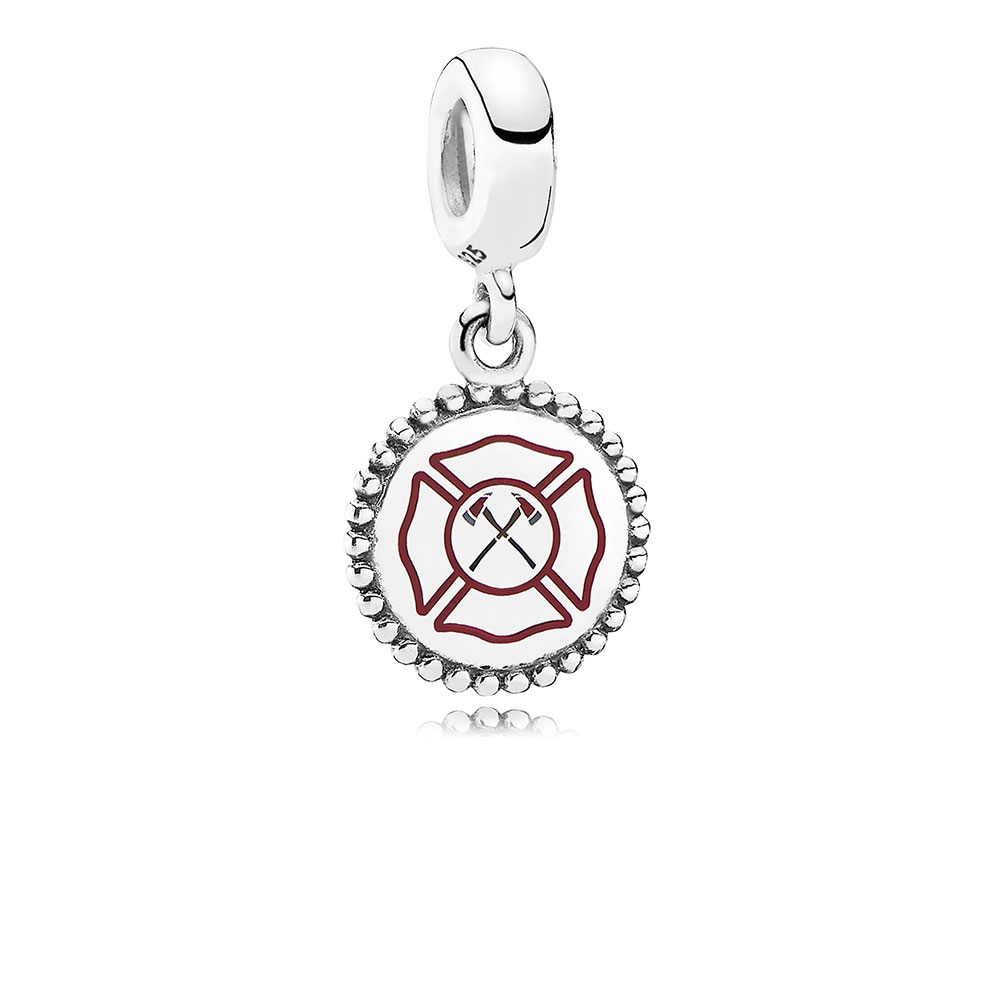 Firefighter Dangle Charm, Mixed Enamel, Sterling silver - PANDORA - #ENG791169_55