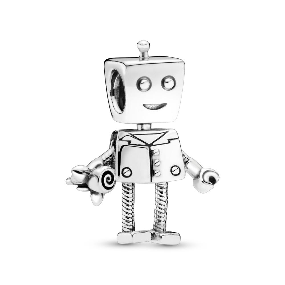 Rob Bot Charm, Sterling silver - PANDORA - #797819
