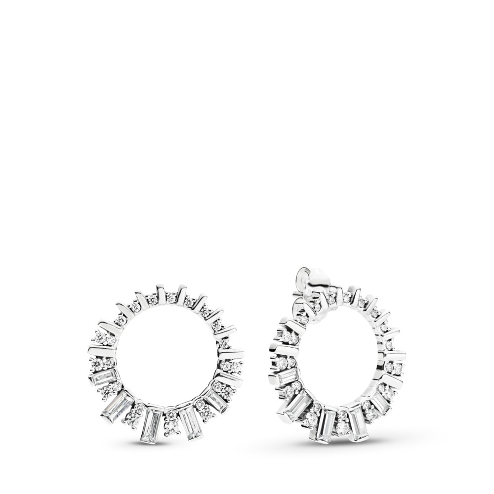 Glacial Beauty Drop Earrings, Clear CZ, Sterling silver, Cubic Zirconia - PANDORA - #297545CZ