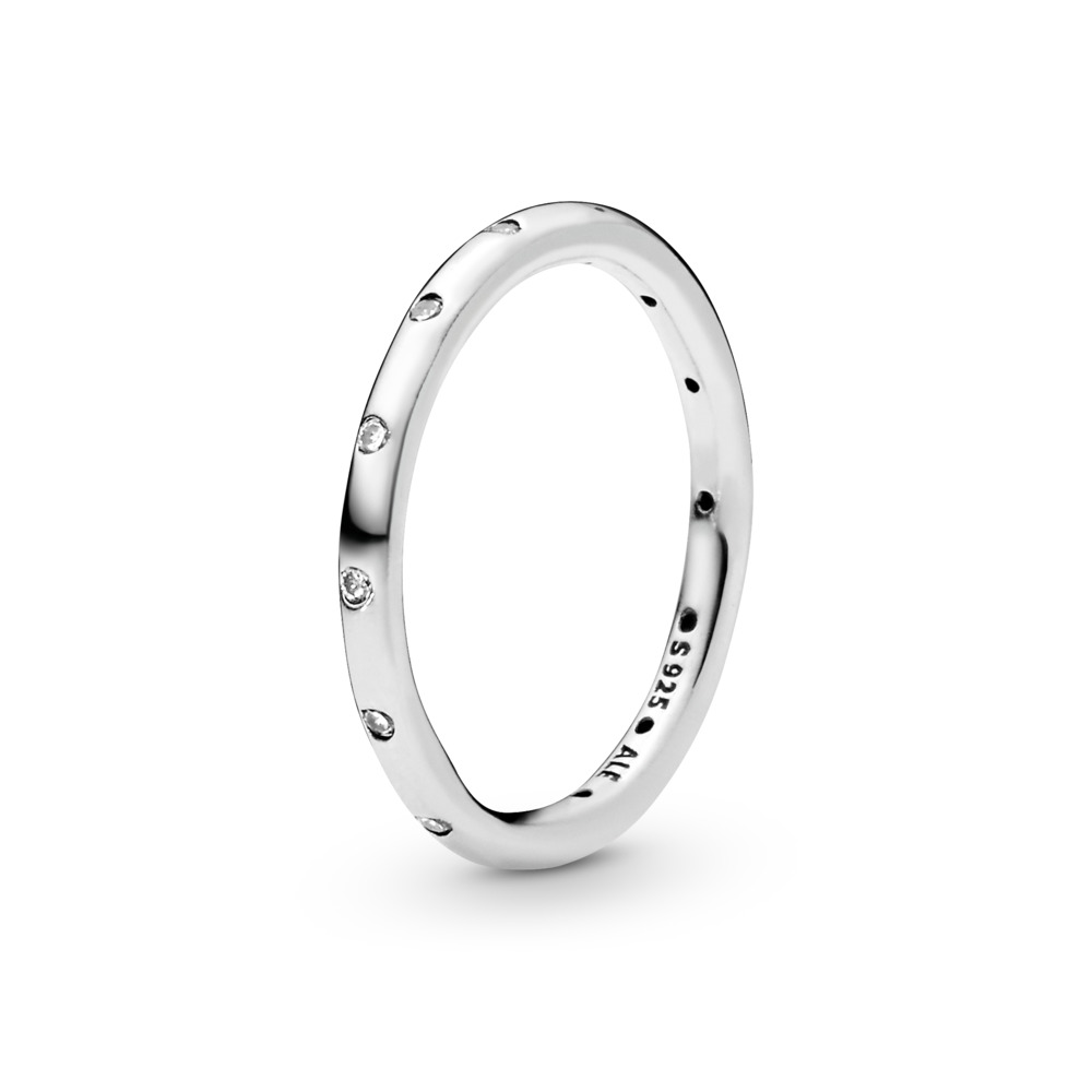 Simple Sparkling Band Ring, Sterling silver, Cubic Zirconia - PANDORA - #190945CZ