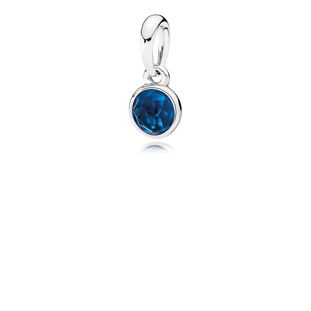 December Droplet Pendant, London Blue Crystal