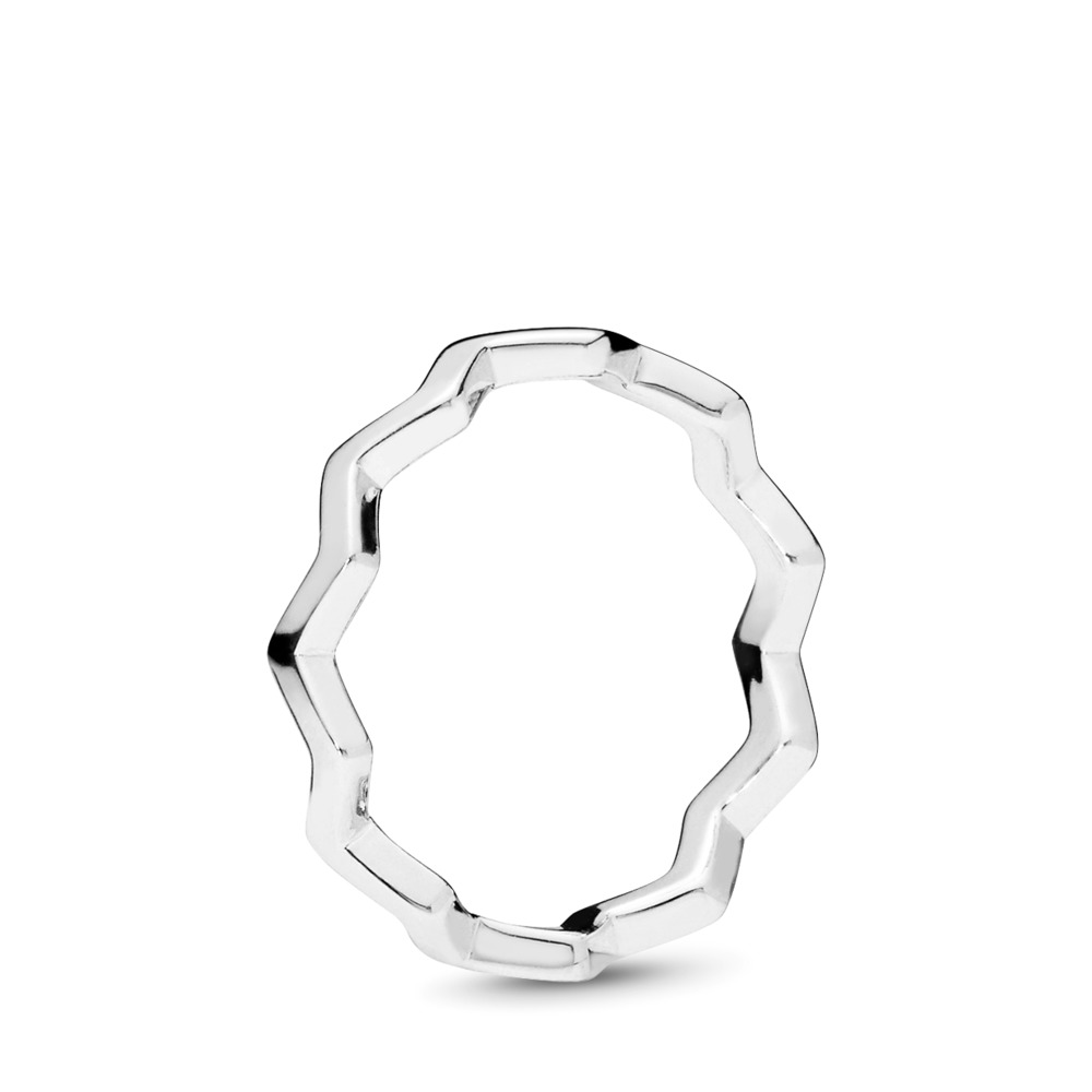 Timeless Zigzag Ring, Sterling silver - PANDORA - #197752