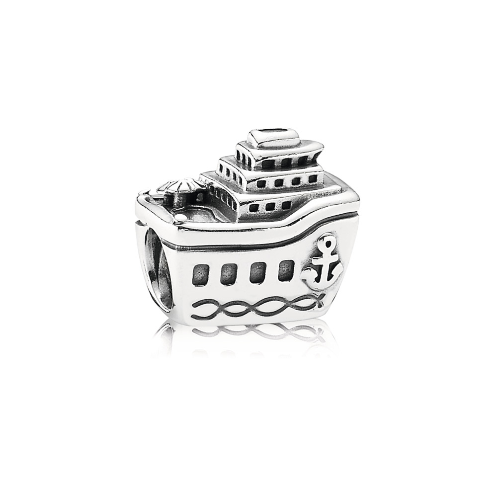 All Aboard Cruise Ship Charm, Sterling silver - PANDORA - #791043