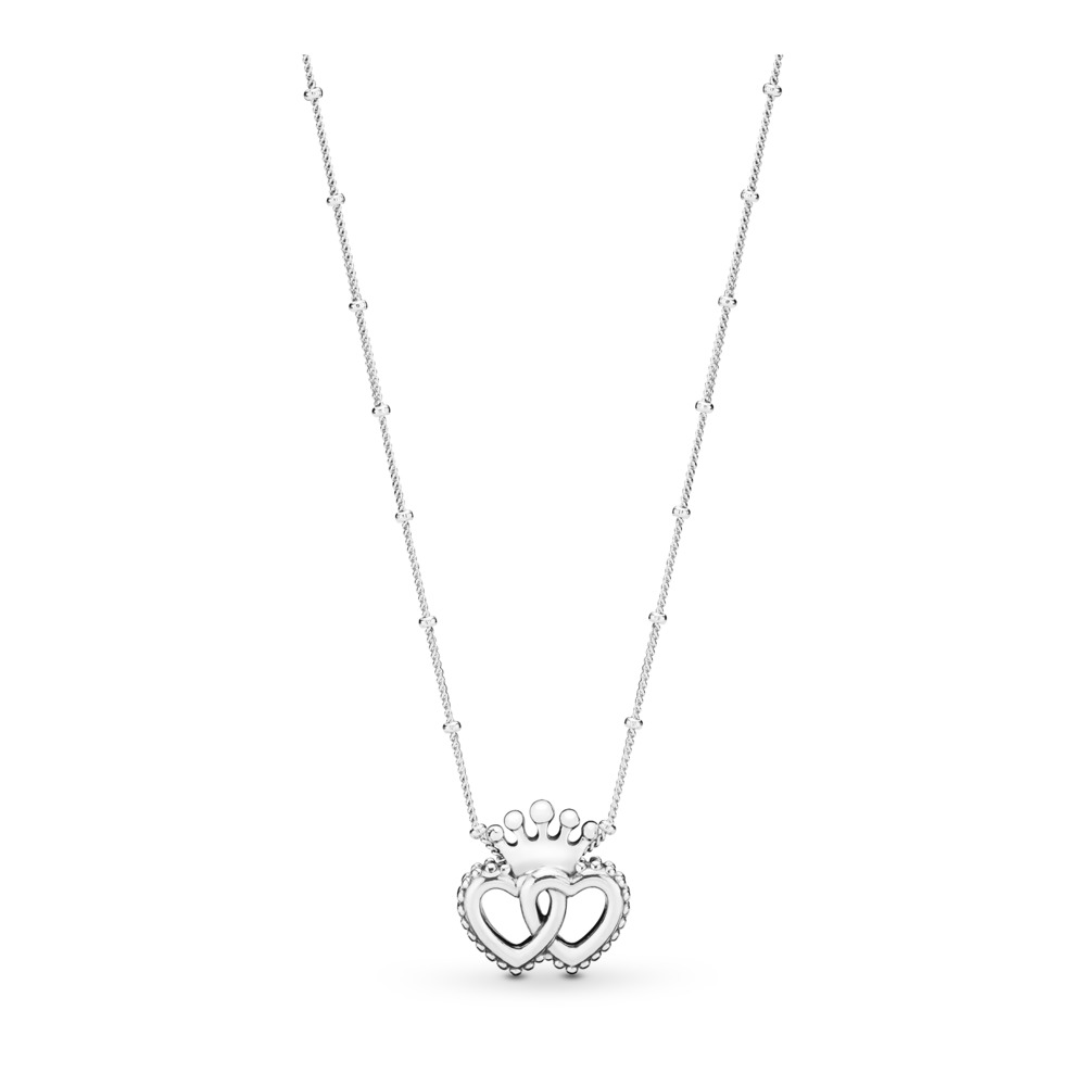 United Regal Hearts Necklace, Sterling silver - PANDORA - #397719