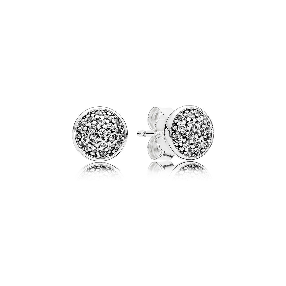 Dazzling Droplets Stud Earrings Clear Cz
