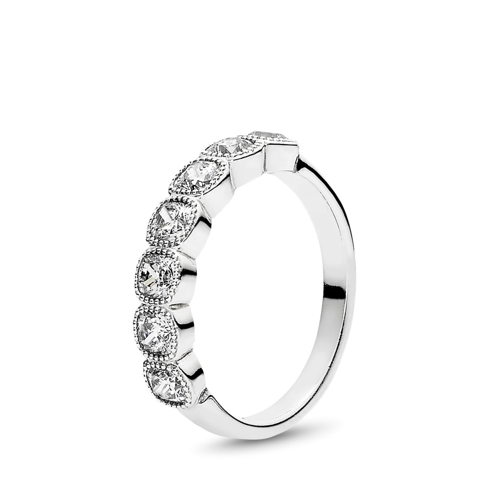 Alluring Cushion Ring, Clear CZ, Sterling silver, Cubic Zirconia - PANDORA - #191019CZ