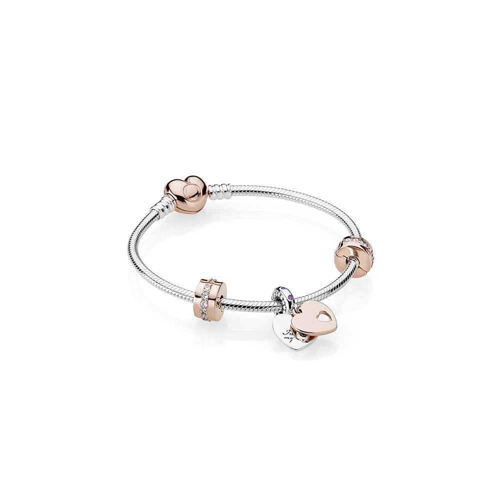 In My Heart Bracelet Gift Set Pandora Rose Clear Cz And Multi