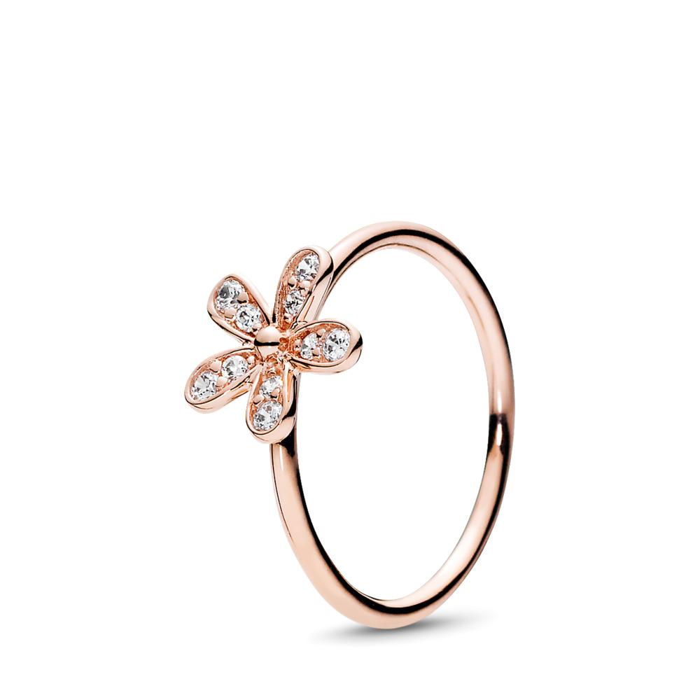 Dazzling Daisy Ring, PANDORA Rose™ & Clear CZ, PANDORA Rose, Cubic Zirconia - PANDORA - #180932CZ