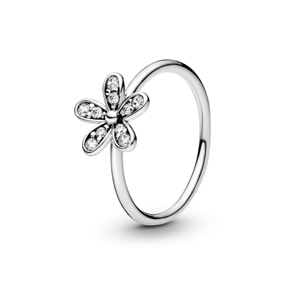 Dazzling Daisy Ring, Clear CZ, Sterling silver, Cubic Zirconia - PANDORA - #190932CZ