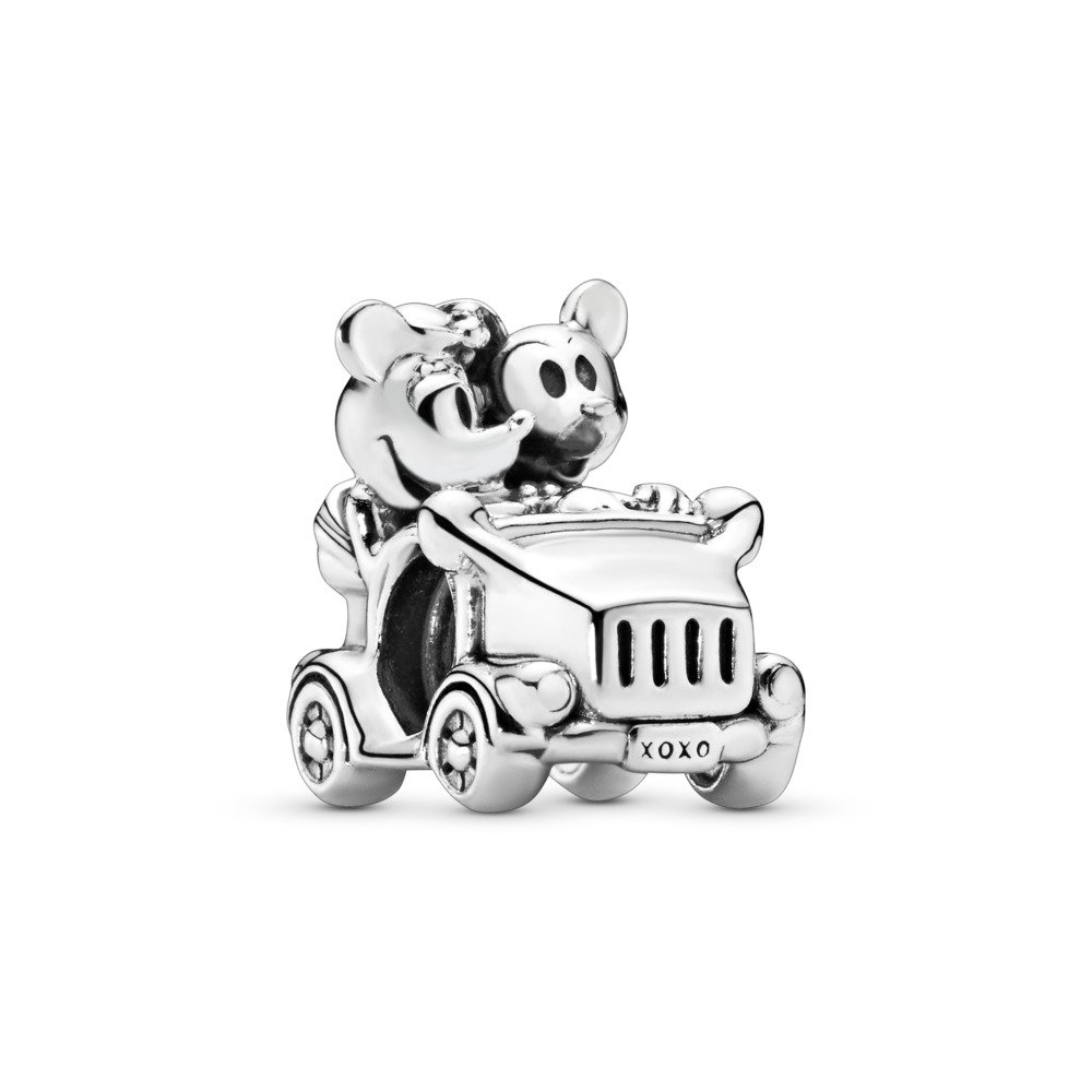 Disney, Mickey & Minnie Vintage Car Charm, Sterling silver - PANDORA - #797174