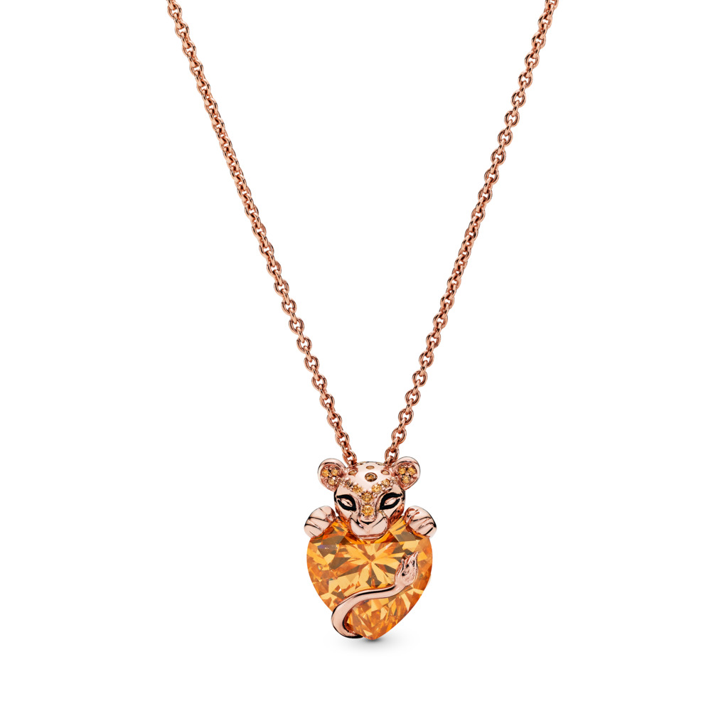 Radient Silver Filigree Angel Wing W/pink Heart Rhinestone Charm Necklace Jewelry & Watches