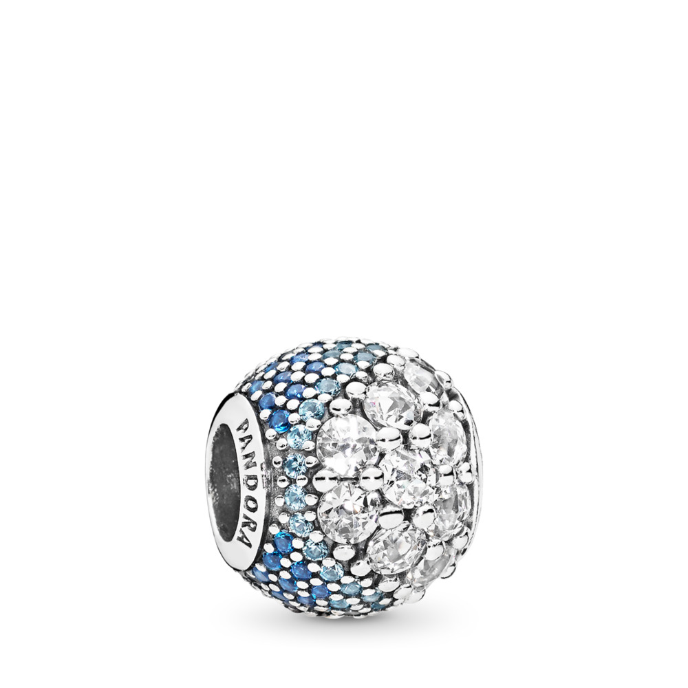 7791db11c Blue Enchanted Pavé Charm, Blue & Clear CZ, Sterling silver, Blue, Mixed