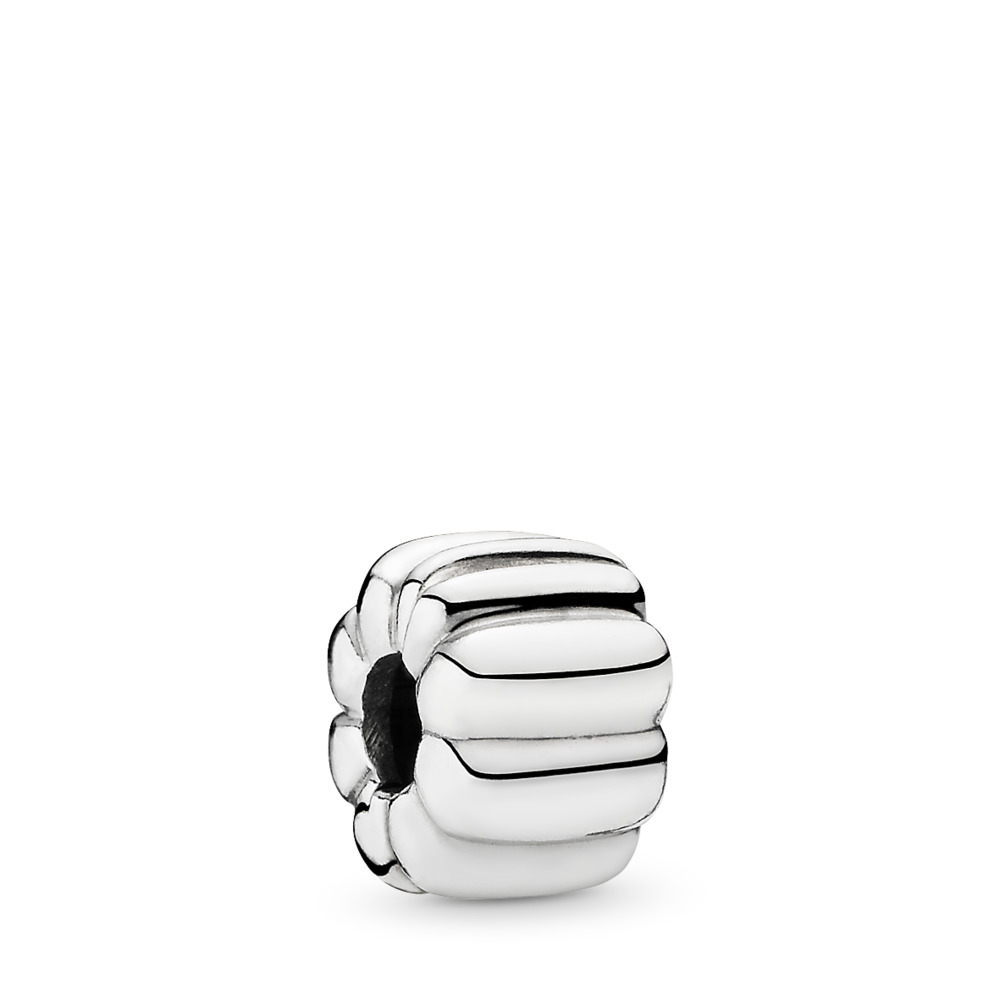 Ribbed Clip, Sterling silver - PANDORA - #790163