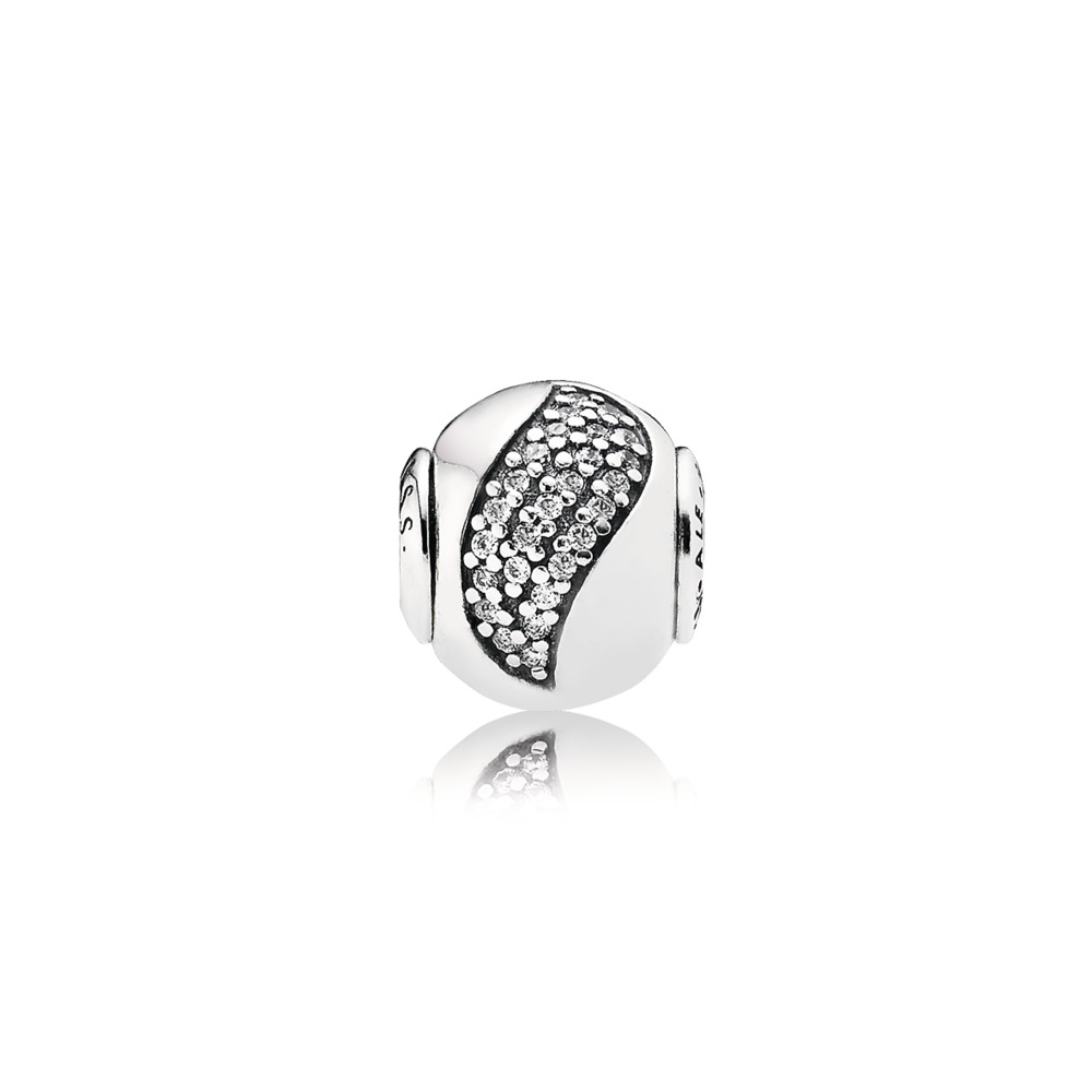 HAPPINESS Charm, Clear CZ, Sterling silver, Silicone, Cubic Zirconia - PANDORA - #796021CZ