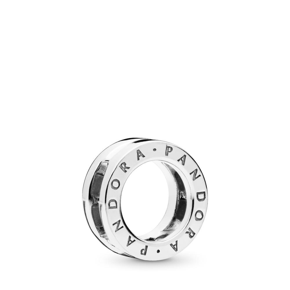 PANDORA Reflexions™ Logo Clip Charm, Sterling silver, Silicone - PANDORA - #797598