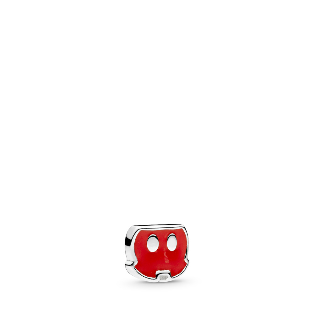 Disney, Mickey Trousers Petite Locket Charm, Red Enamel, Sterling silver, Enamel, Red - PANDORA - #796348EN09