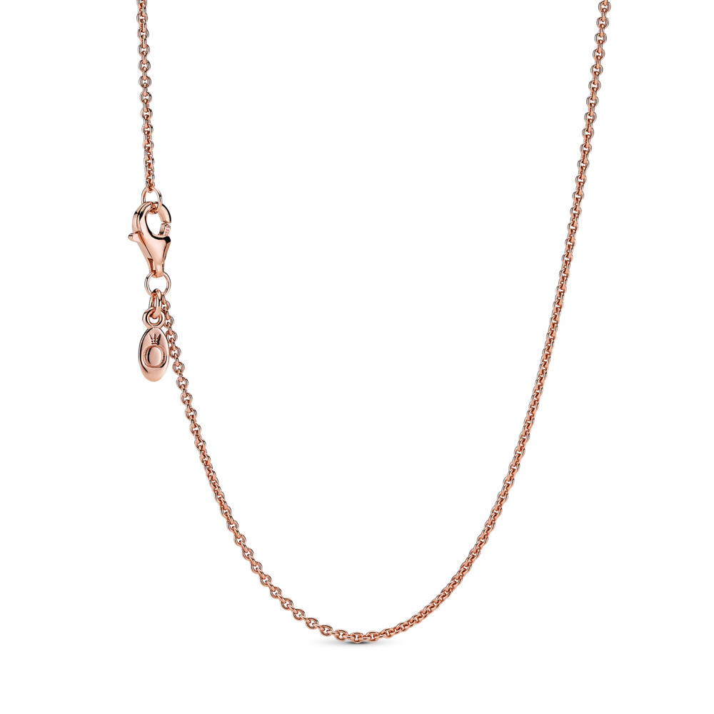 Classic Cable Chain Necklace, PANDORA Rose - PANDORA - #580413
