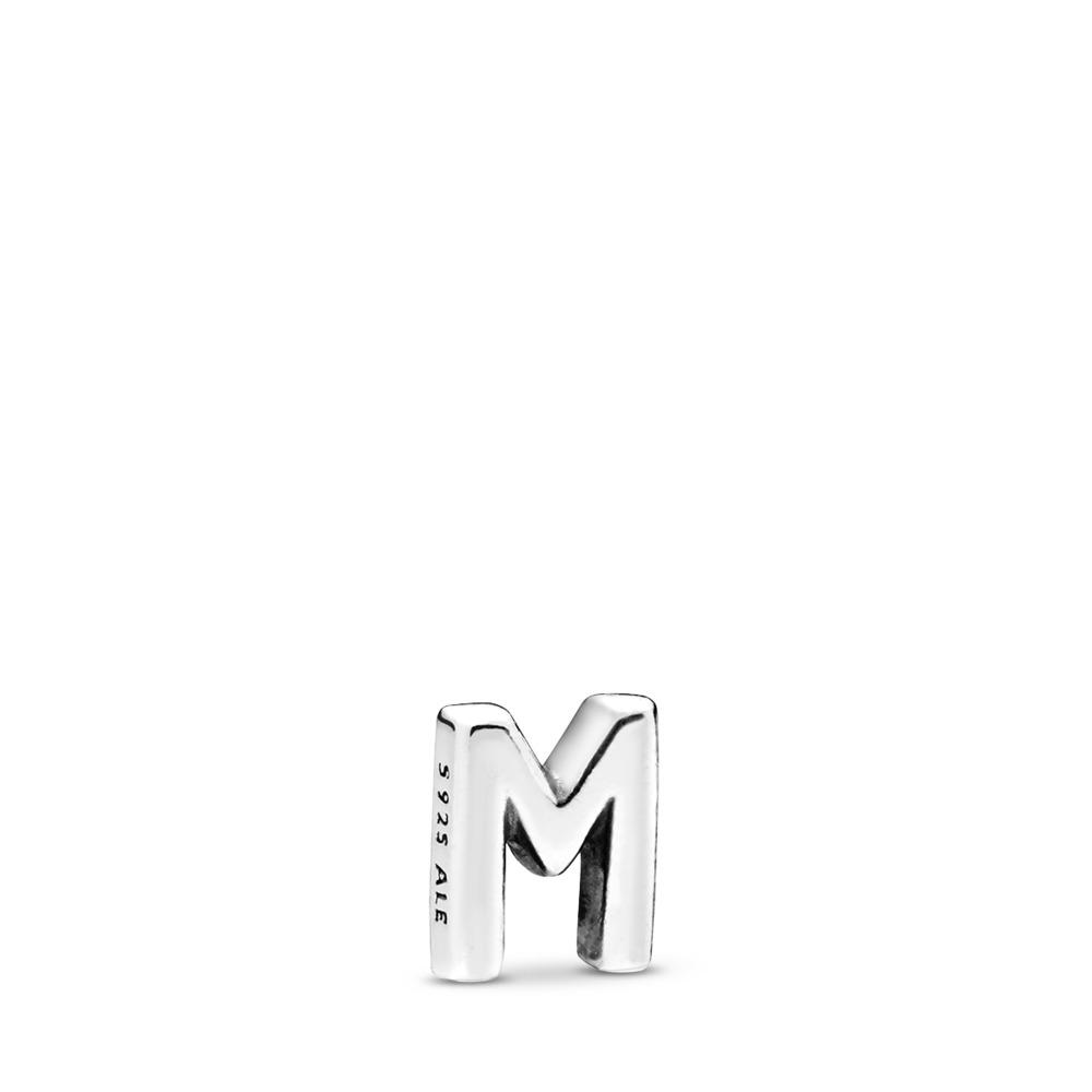 Letter M Petite Locket Charm, Sterling silver - PANDORA - #797331