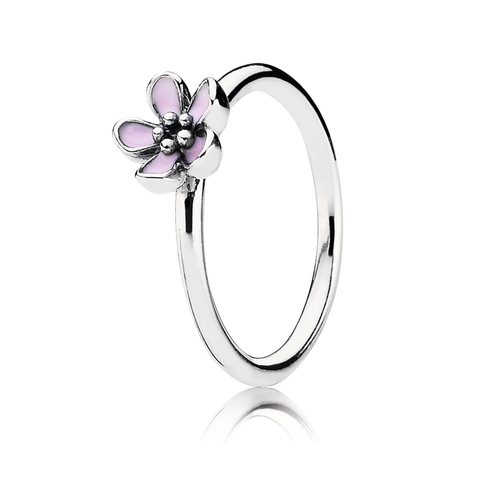 Cherry Blossom Ring, Pink Enamel, Sterling silver, Enamel, Pink - PANDORA - #190879EN40