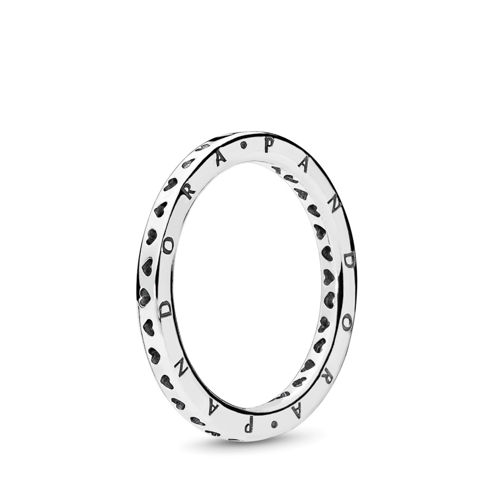 Signature Hearts of PANDORA Ring, Sterling silver - PANDORA - #197133
