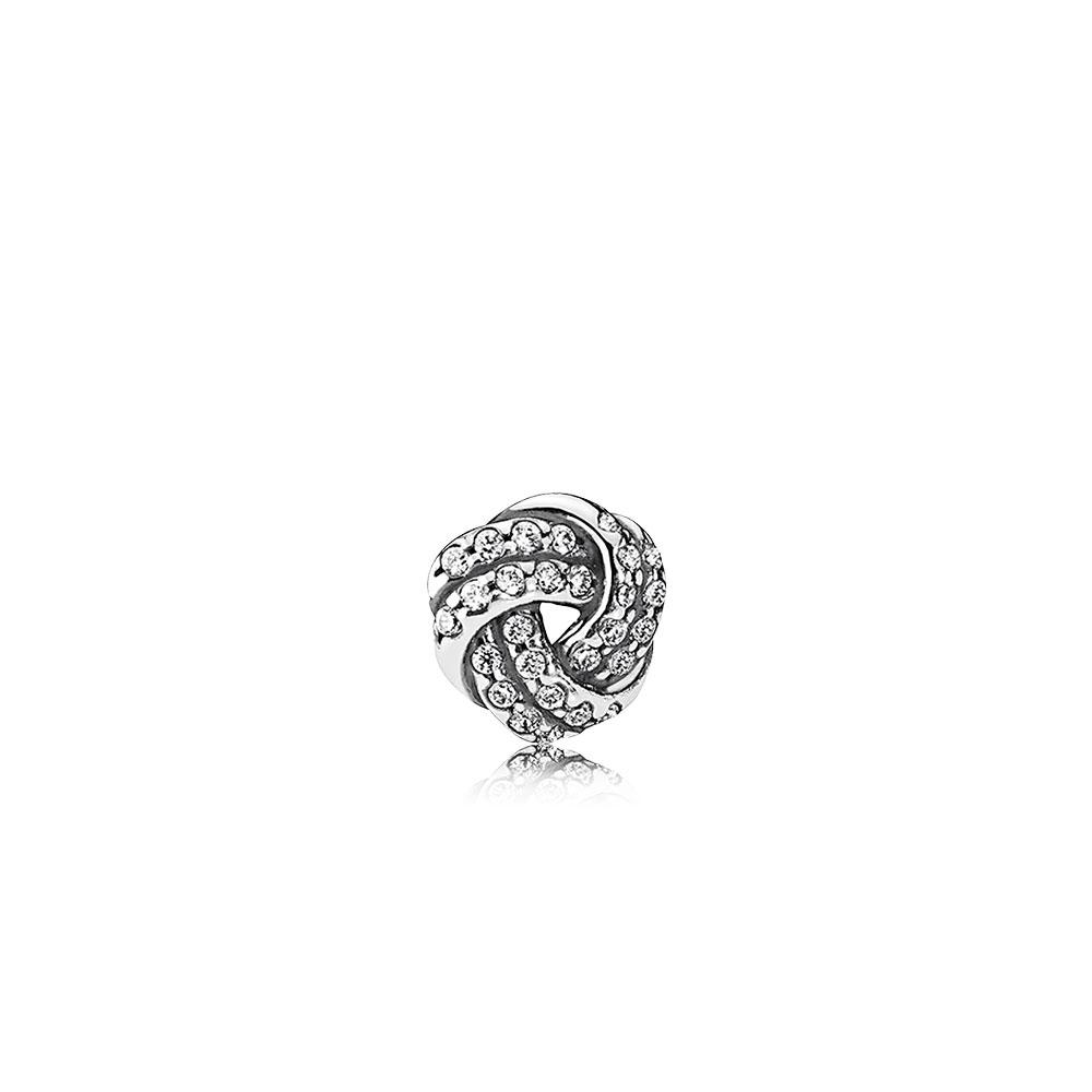 Sparkling Love Knot Petite Locket Charm