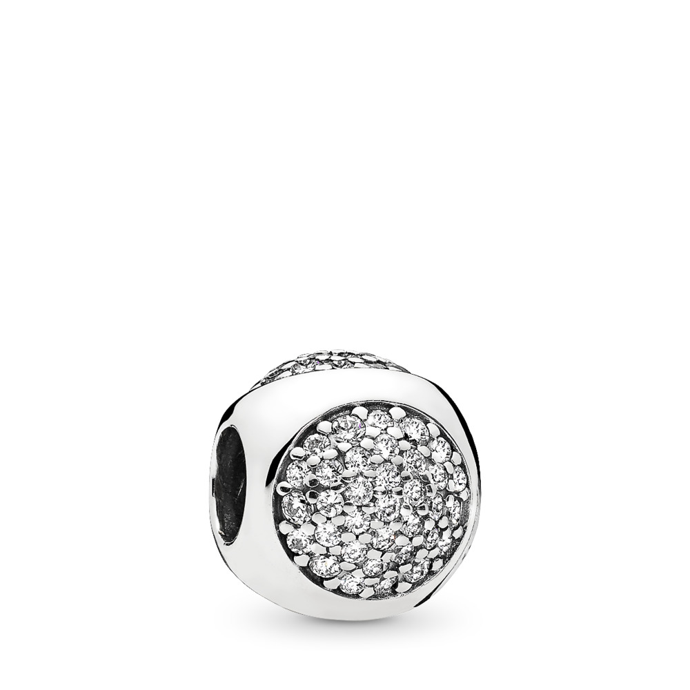 Dazzling Droplet Charm, Clear CZ, Sterling silver, Cubic Zirconia - PANDORA - #796214CZ