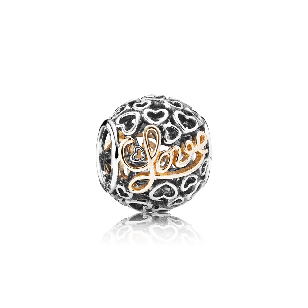 Message Of Love Charm, Two Tone - PANDORA - #791425