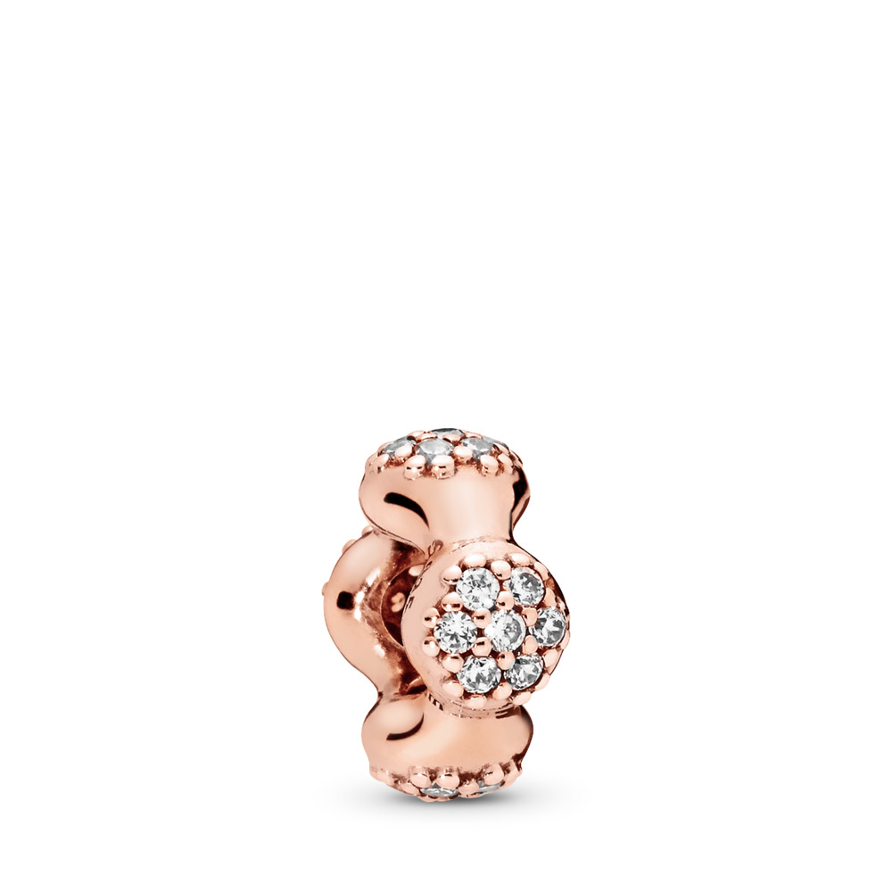 de6b2e703 Modern LovePods™ Spacer, PANDORA Rose™ & Clear CZ, PANDORA Rose, Cubic