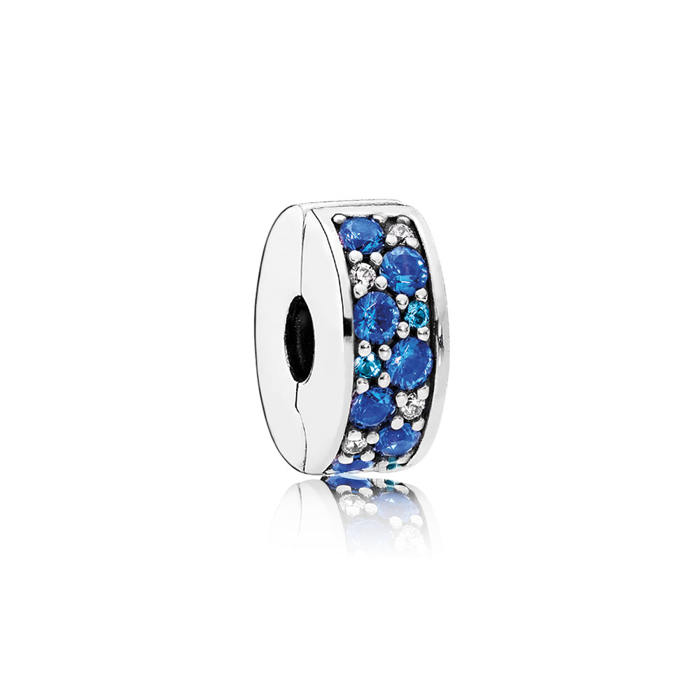 Mosaic Shining Elegance Clip, Multi-Colored Crystals & Clear CZ