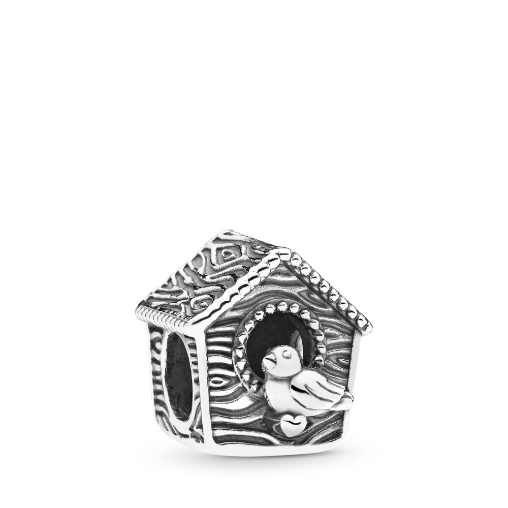 Spring Bird House Charm, Sterling silver - PANDORA - #797045