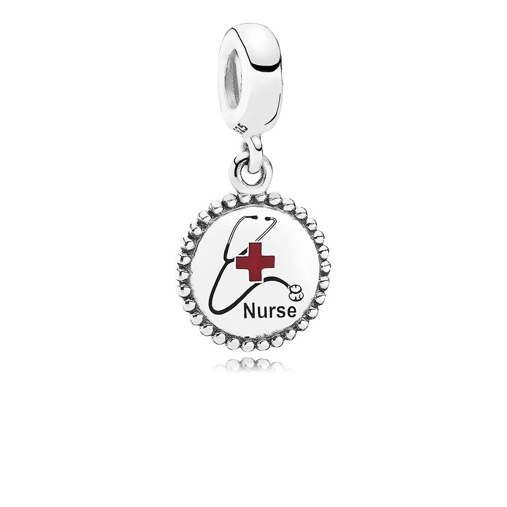 Nurse Dangle Charm, Mixed Enamel
