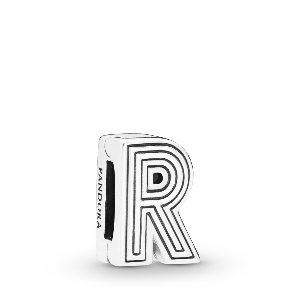 Pandora Reflexions™ Letter R Clip Charm, Sterling silver, Silicone - PANDORA - #798214