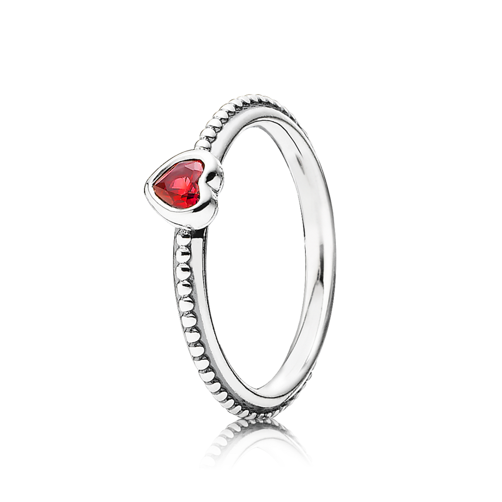 One Love Ring, Scarlet Synthetic Ruby